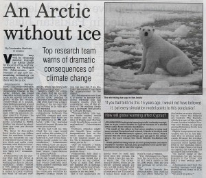 An Arctic Without Ice (Cyprus Mail feature on melting ice caps by Constantine Markides)