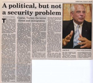 EU President Josep Borrell Interviewed by Constantine Markides for Cyprus Mail